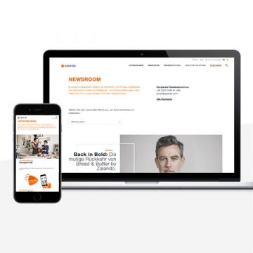 Ansicht des Zalando Newsrooms