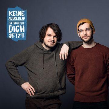 Zwei männliche Influencer für Organspende-Kampagne des Bayerischen Staatsministeriums für Gesundheit und Pflege