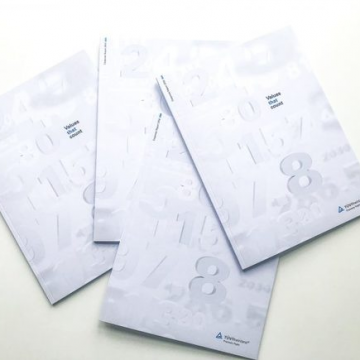 Vier Ausgaben des TÜV Geschäftsberichts