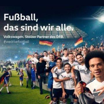 Volkswagen jubelnde Fußballmannschaft