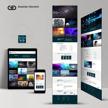 Website-Content für Giesecke+Devrient