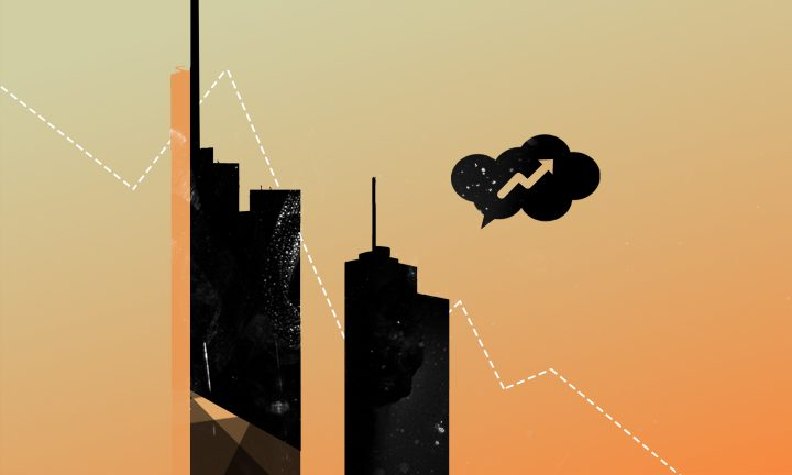 Frankfurter Skyline Grafik