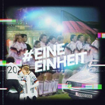 Eine Einheit Kampagne Titelbild mit Fußballern